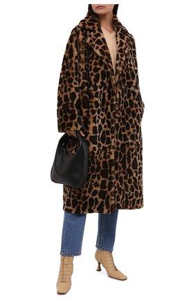 Женская шуба из меха овчины METEO YVES SALOMON леопардового цвета, арт. 22WMM61399MECL/BR0WN LE0PARD | Фото 2