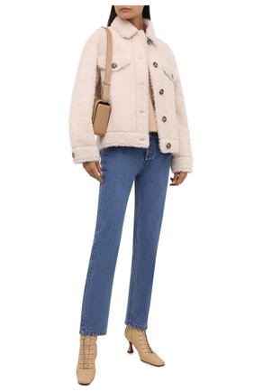 Женская куртка из овчины METEO YVES SALOMON кремвого цвета, арт. 22WMV60367MECL | Фото 2