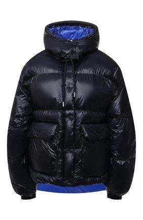 Женский утепленная куртка ALEXANDER MCQUEEN темно-синего цвета, арт. 661927/QEAC1 | Фото 1 (Длина (верхняя одежда): Короткие; Материал внешний: Синтетический материал; Материал подклада: Синтетический материал; Рукава: Длинные; Стили: Спорт-шик; Кросс-КТ: Пуховик)