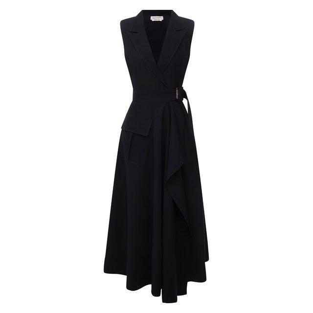 Платье из шерсти и хлопка Alexander McQueen