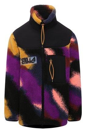 Женская куртка STELLA MCCARTNEY разноцветного цвета, арт. 603595/SSB04 | Фото 1 (Материал подклада: Синтетический материал; Длина (верхняя одежда): До середины бедра; Рукава: Длинные; Материал внешний: Синтетический материал; Кросс-КТ: Куртка; Стили: Спорт-шик)
