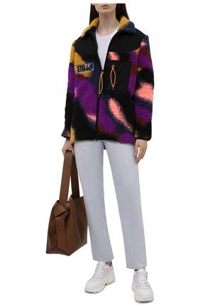 Женская куртка STELLA MCCARTNEY разноцветного цвета, арт. 603595/SSB04 | Фото 2 (Материал подклада: Синтетический материал; Длина (верхняя одежда): До середины бедра; Рукава: Длинные; Материал внешний: Синтетический материал; Кросс-КТ: Куртка; Стили: Спорт-шик)