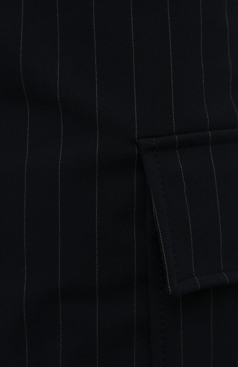 Женские шорты-бермуды GANNI темно-синего цвета, арт. F6119   Фото 5 (Женское Кросс-КТ: Шорты-одежда; Длина Ж (юбки, платья, шорты): Мини; Материал внешний: Синтетический материал, Вискоза; Кросс-КТ: Широкие; Стили: Кэжуэл)