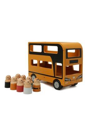 Детского игрушечный двухэтажный автобус KID`S CONCEPT оранжевого цвета, арт. 1000515 | Фото 1