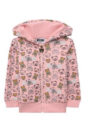 Детский комплект из толстовки и брюк MOSCHINO розового цвета, арт. MUK037/LDB72 | Фото 2 (Материал внешний: Хлопок; Рукава: Длинные; Ростовка одежда: 12 мес | 80 см, 18 мес | 86 см, 24 мес | 92 см, 3 мес | 62 см, 36 мес | 98 см, 6 мес | 68 см, 9 мес | 74 см)