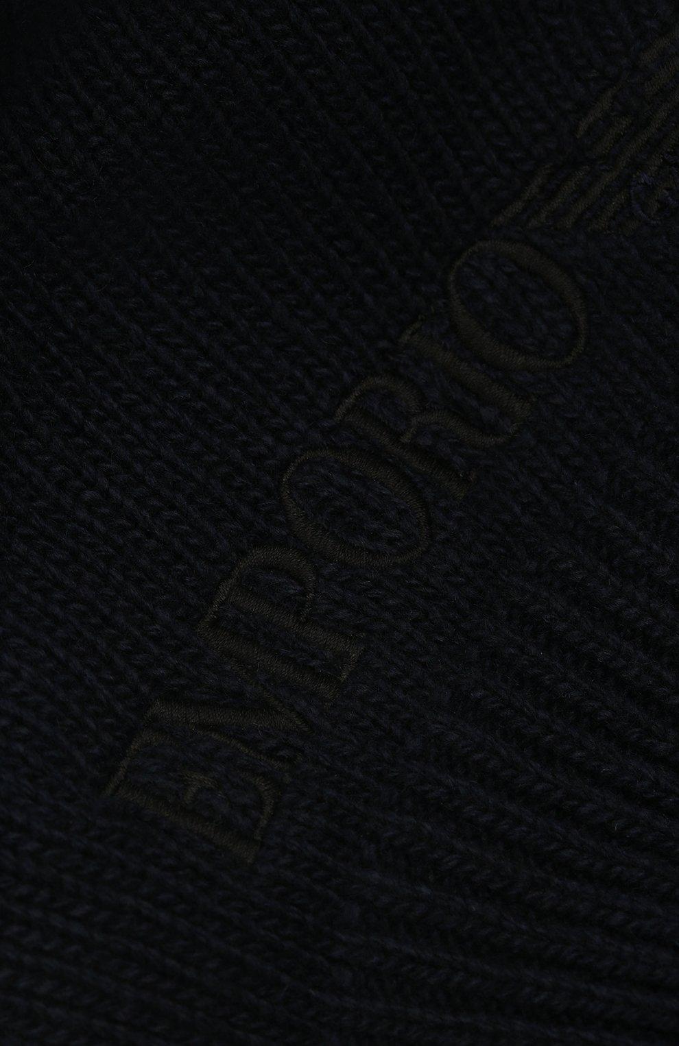 Детский берет из шерсти и вискозы EMPORIO ARMANI синего цвета, арт. 394615/1A495 | Фото 3 (Материал: Текстиль, Шерсть, Вискоза, Синтетический материал)