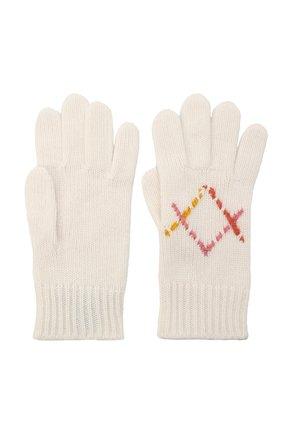 Детские кашемировые перчатки LORO PIANA бежевого цвета, арт. FAL7507 | Фото 2