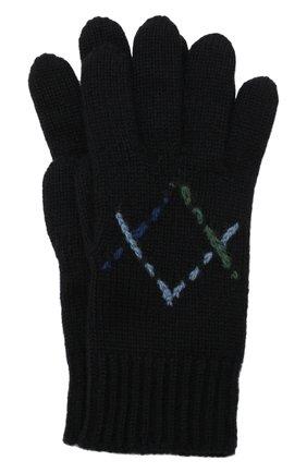 Детские кашемировые перчатки LORO PIANA синего цвета, арт. FAL7507 | Фото 1