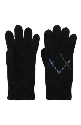 Детские кашемировые перчатки LORO PIANA синего цвета, арт. FAL7507 | Фото 2