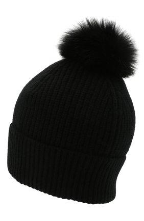 Кашемировая шапка с мехом | Фото №2