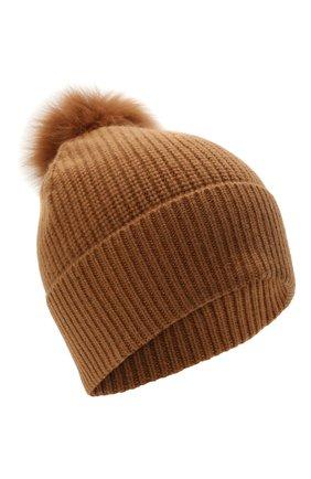 Кашемировая шапка с мехом | Фото №1