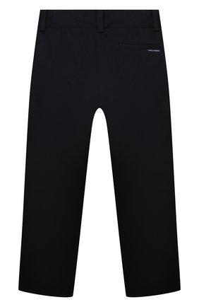 Детские хлопковые брюки DOLCE & GABBANA темно-синего цвета, арт. L52P98/FUFJY/2-6   Фото 2 (Материал внешний: Хлопок; Девочки Кросс-КТ: Брюки-одежда; Ростовка одежда: 2 года   92 см, 3 года   98 см, 4 года   104 см, 5 лет   110 см, 6 лет   116 см)