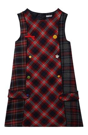 Детское шерстяное платье DOLCE & GABBANA синего цвета, арт. L52DU2/G7ATW/2-6 | Фото 1 (Рукава: Короткие; Материал внешний: Шерсть; Материал подклада: Вискоза; Девочки Кросс-КТ: Платье-одежда; Случай: Повседневный; Ростовка одежда: 4 года | 104 см, 5 лет | 110 см, 6 лет | 116 см)