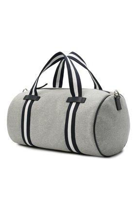 Детская хлопковая сумка DOLCE & GABBANA серого цвета, арт. EM0036/AQ426   Фото 2 (Материал: Текстиль)