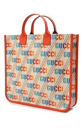 Детская хлопковая сумка GUCCI разноцветного цвета, арт. 550763/21ZA0 | Фото 2 (Материал: Текстиль)