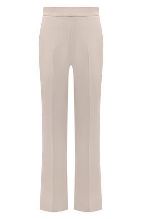 Женские шерстяные брюки LORO PIANA светло-бежевого цвета, арт. FAL9498 | Фото 1 (Длина (брюки, джинсы): Стандартные; Материал внешний: Шерсть; Женское Кросс-КТ: Брюки-одежда; Силуэт Ж (брюки и джинсы): Расклешенные; Стили: Кэжуэл)