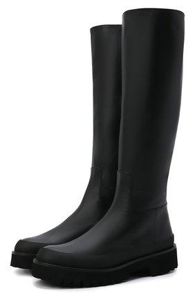 Женские кожаные сапоги PALOMA BARCELO черного цвета, арт. CALLAN NAPAS0FT | Фото 1