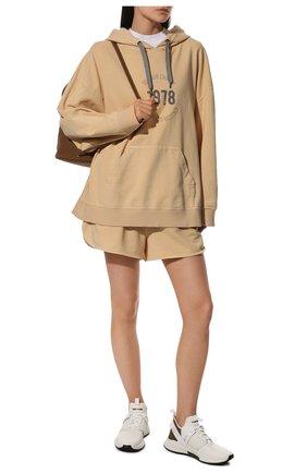 Женские комбинированные кроссовки jago TOM FORD белого цвета, арт. W2818N-T0F004 | Фото 2 (Материал внутренний: Натуральная кожа, Текстиль; Материал внешний: Текстиль; Подошва: Платформа)