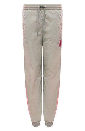 Женские джоггеры STELLA MCCARTNEY серого цвета, арт. 603722/SSA14   Фото 1 (Материал внешний: Синтетический материал; Длина (брюки, джинсы): Стандартные; Женское Кросс-КТ: Джоггеры - брюки; Силуэт Ж (брюки и джинсы): Джоггеры; Стили: Спорт-шик)