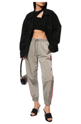 Женские джоггеры STELLA MCCARTNEY серого цвета, арт. 603722/SSA14   Фото 2 (Материал внешний: Синтетический материал; Длина (брюки, джинсы): Стандартные; Женское Кросс-КТ: Джоггеры - брюки; Силуэт Ж (брюки и джинсы): Джоггеры; Стили: Спорт-шик)