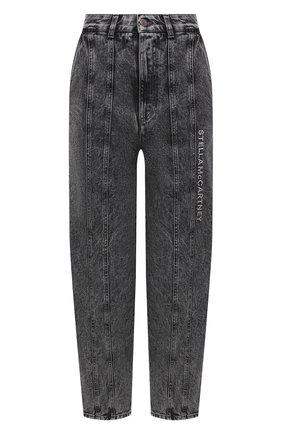 Женские джинсы STELLA MCCARTNEY серого цвета, арт. 603707/S0H42 | Фото 1 (Длина (брюки, джинсы): Укороченные; Материал внешний: Хлопок; Кросс-КТ: Деним; Стили: Гранж; Силуэт Ж (брюки и джинсы): Бойфренды)