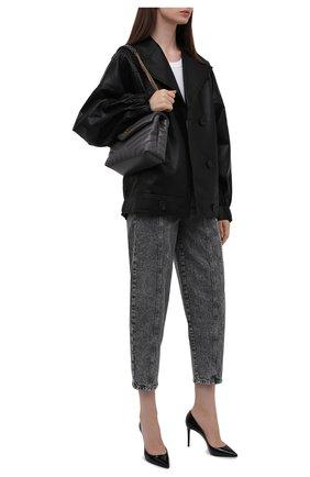 Женские джинсы STELLA MCCARTNEY серого цвета, арт. 603707/S0H42 | Фото 2 (Длина (брюки, джинсы): Укороченные; Материал внешний: Хлопок; Кросс-КТ: Деним; Стили: Гранж; Силуэт Ж (брюки и джинсы): Бойфренды)