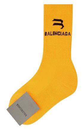 Женские носки BALENCIAGA оранжевого цвета, арт. 659278/3A8B4 | Фото 1 (Материал внешний: Синтетический материал)