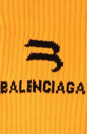 Женские носки BALENCIAGA оранжевого цвета, арт. 659278/3A8B4 | Фото 2 (Материал внешний: Синтетический материал)