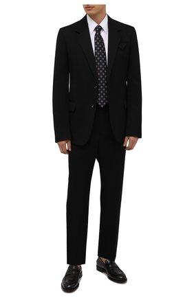 Мужская хлопковая сорочка GIORGIO ARMANI белого цвета, арт. 1WGCCZ70/TZ992 | Фото 2 (Рукава: Длинные; Материал внешний: Хлопок; Рубашки М: Regular Fit; Манжеты: На пуговицах; Длина (для топов): Стандартные; Случай: Формальный; Воротник: Кент; Принт: Однотонные; Стили: Классический)