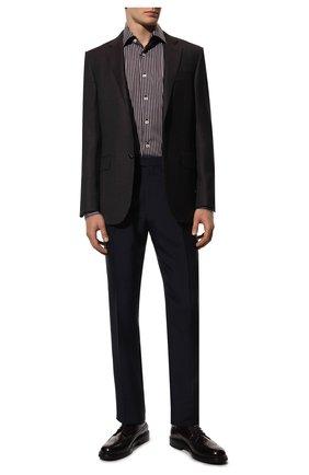 Мужские кожаные дерби BARRETT бордового цвета, арт. 202U038.25/P0LISHED B | Фото 2 (Материал внутренний: Натуральная кожа; Стили: Классический; Мужское Кросс-КТ: Броги-обувь)
