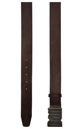 Мужской кожаный ремень DSQUARED2 темно-коричневого цвета, арт. BEM0050 20400001 | Фото 3 (Случай: Повседневный)