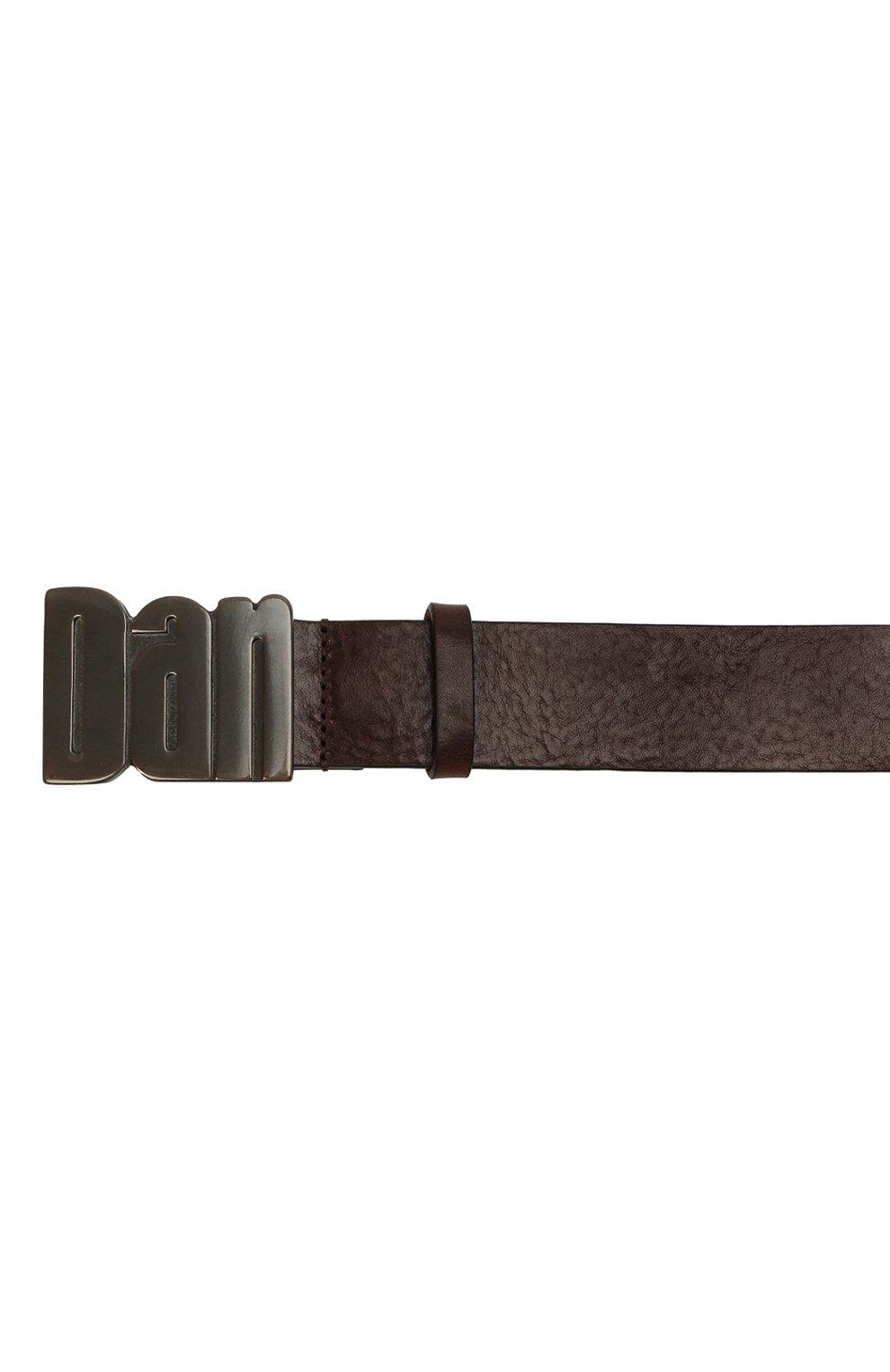 Мужской кожаный ремень DSQUARED2 темно-коричневого цвета, арт. BEM0050 20400001 | Фото 4 (Случай: Повседневный)