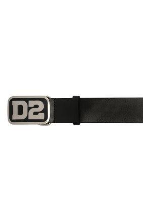 Мужской кожаный ремень DSQUARED2 черного цвета, арт. BEM0388 12900001   Фото 4 (Случай: Повседневный)