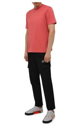 Мужские кожаные кеды vulcanized OFF-WHITE серого цвета, арт. 0MIA085F21LEA0060920 | Фото 2 (Материал внутренний: Текстиль; Подошва: Плоская)