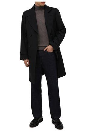 Мужской шерстяная водолазка CORNELIANI темно-бежевого цвета, арт. 88M503-1825100/00 | Фото 2 (Рукава: Длинные; Материал внешний: Шерсть; Длина (для топов): Стандартные; Мужское Кросс-КТ: Водолазка-одежда; Принт: Без принта; Стили: Кэжуэл)