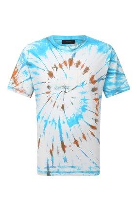 Мужская хлопковая футболка AMIRI разноцветного цвета, арт. MJLT007-491 | Фото 1 (Рукава: Короткие; Материал внешний: Хлопок; Длина (для топов): Стандартные; Принт: С принтом; Стили: Бохо)