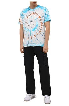 Мужская хлопковая футболка AMIRI разноцветного цвета, арт. MJLT007-491 | Фото 2 (Рукава: Короткие; Материал внешний: Хлопок; Длина (для топов): Стандартные; Принт: С принтом; Стили: Бохо)