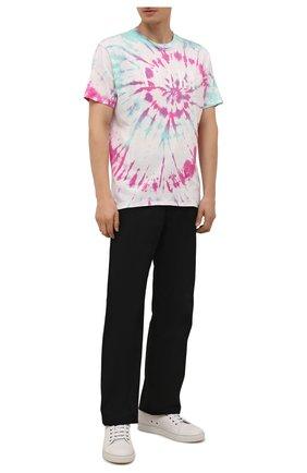 Мужская хлопковая футболка AMIRI разноцветного цвета, арт. MJLT007-349 | Фото 2 (Длина (для топов): Стандартные; Материал внешний: Хлопок; Рукава: Короткие; Принт: С принтом; Стили: Бохо)