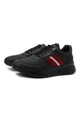 Мужские кожаные кроссовки blerry BALLY черного цвета, арт. BLERRY/00 | Фото 1 (Подошва: Массивная; Материал внутренний: Натуральная кожа; Стили: Классический)