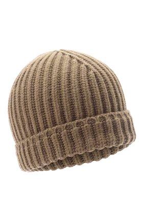 Мужская кашемировая шапка SVEVO бежевого цвета, арт. 0188SA21/MP01/2   Фото 1 (Материал: Кашемир, Шерсть; Кросс-КТ: Трикотаж)