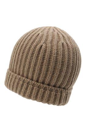 Мужская кашемировая шапка SVEVO бежевого цвета, арт. 0188SA21/MP01/2   Фото 2 (Материал: Кашемир, Шерсть; Кросс-КТ: Трикотаж)