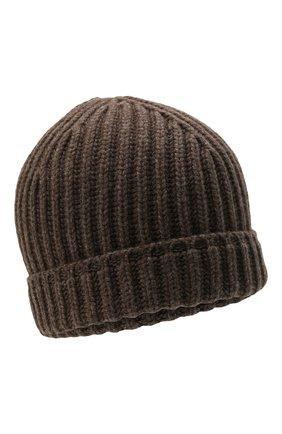 Мужская кашемировая шапка SVEVO темно-бежевого цвета, арт. 0188SA21/MP01/2   Фото 1 (Материал: Шерсть, Кашемир; Кросс-КТ: Трикотаж)