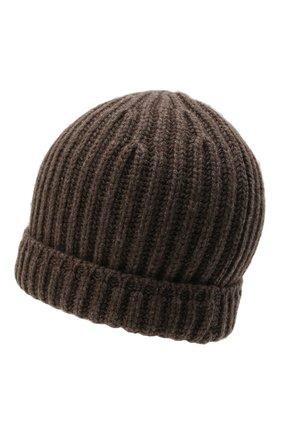 Мужская кашемировая шапка SVEVO темно-бежевого цвета, арт. 0188SA21/MP01/2   Фото 2 (Материал: Шерсть, Кашемир; Кросс-КТ: Трикотаж)