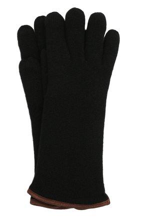 Мужские кашемировые перчатки SVEVO черного цвета, арт. 0158USA21/MP01/2 | Фото 1