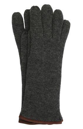 Мужские кашемировые перчатки SVEVO темно-серого цвета, арт. 0158USA21/MP01/2 | Фото 1