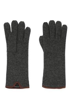 Мужские кашемировые перчатки SVEVO темно-серого цвета, арт. 0158USA21/MP01/2 | Фото 2