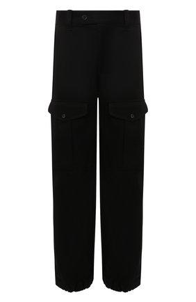 Мужские хлопковые брюки-карго ALEXANDER MCQUEEN черного цвета, арт. 664230/QRS29 | Фото 1 (Материал внешний: Хлопок; Длина (брюки, джинсы): Стандартные; Случай: Повседневный; Силуэт М (брюки): Карго; Стили: Гранж)