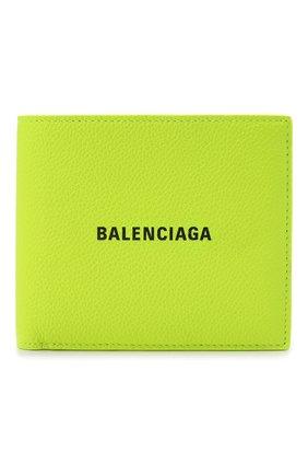 Мужской кожаное портмоне BALENCIAGA желтого цвета, арт. 594549/2UQ13   Фото 1