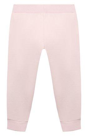 Детские хлопковые джоггеры MONNALISA розового цвета, арт. 398411RM   Фото 2 (Материал внешний: Хлопок; Ростовка одежда: 12 мес   80 см, 18 мес   86 см, 24 мес   92 см, 36 мес   98 см)