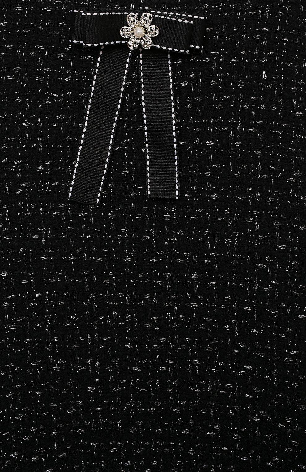 Детское хлопковое платье ammi ZHANNA & ANNA черного цвета, арт. ZAQ03032021   Фото 3 (Случай: Вечерний; Рукава: Короткие; Материал внешний: Хлопок; Девочки Кросс-КТ: Платье-одежда; Материал подклада: Хлопок; Ростовка одежда: 5 лет   110 см, 7 лет   122 см, 9 лет   134 см, 12 лет   152 см)